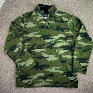 Camo Fleece Quarter Zip Sweater